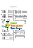 Comparing fractions (using a fractions wall) worksheets (4 levels of difficulty)