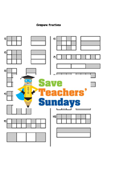 Comparing fractions (using a fractions wall) worksheets (4