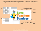 Comparing fractions (using diagrams) lesson plans, worksheets and more