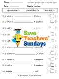Comparing fractions (using fraction walls) lesson plans, worksheets and more