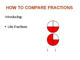 Comparing like fractions