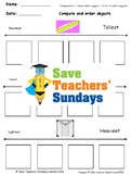 Comparing Measurements Lesson Plans and Worksheets - CCSS K.MD.2 and 1.MD.1