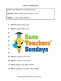 Comparing metric measurments lesson plans, worksheets and more