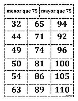 Comparing number sort 75