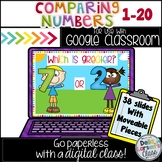 Comparing numbers 1-20 for Google Classroom
