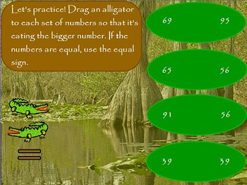 Comparing numbers in the Swamp! (First Grade)