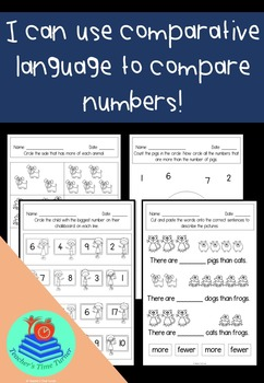 Comparing numbers - more or less