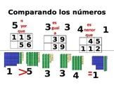 Comparing numbers up 500 - Base Ten Blocks - Spanish