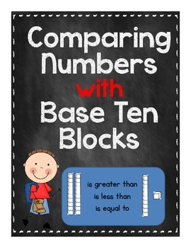 Comparing numbers with Base Ten Blocks
