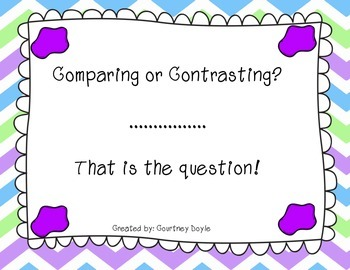Comparing or Contrasting?