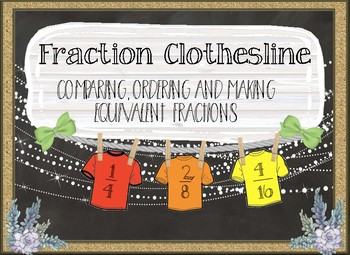 Comparing&Ordering equivalent fractions with interactive notebooks and centers