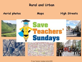 Comparing rural and urban / town and country areas Plan, PowerPoint & Worksheets