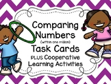 Comparing (w/in million) Numbers Task Cards PLUS Cooperative Learning Activities