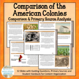Comparing the American Colonies - Response Group or Centers Activity