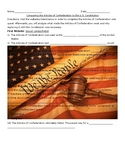 Comparing the Articles to the Constitution Webquest
