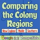 13 Colonies Regions   Compare New England, Middle, & Southern Colonial America