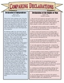 Comparing the Declaration of Independence & Declaration of