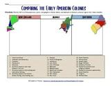 13 Colonies Comparison Chart