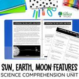 Comparing the Earth Moon and Sun | Comprehension Unit | Di