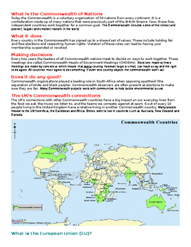 Comparing the European Union and Commonwealth of Nations