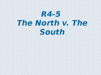 Comparing the North and South in the mid 1800s