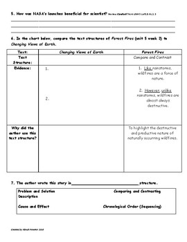 Comparing the Overall Structure McGraw Hill Reading Wonders RWW U5W4