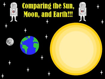 Comparing the Sun, Moon, and Earth: Characteristics Sort