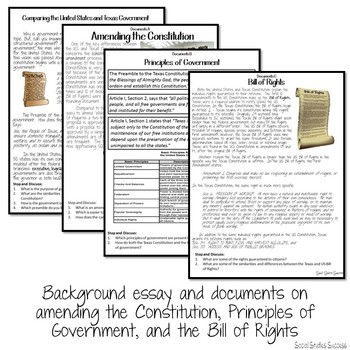 TEXAS CONSTITUTION DEBATE AND WRITING