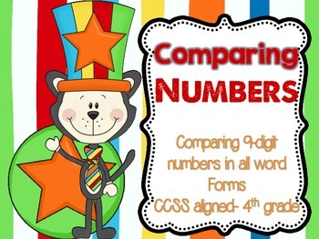 Comparing up to two 9-digit numbers {4th Grade}