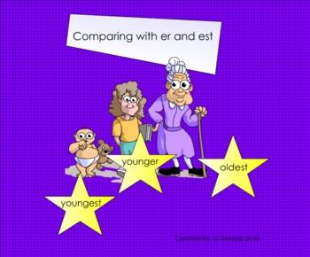 Comparing using er and est Smartboard Lesson