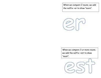 Adjectives: Comparing with -er and -est