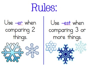 Comparing with -er, -est...winter themed powerpoint!!