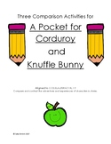 Comparison Activities for Knuffle Bunny and A Pocket for Corduroy