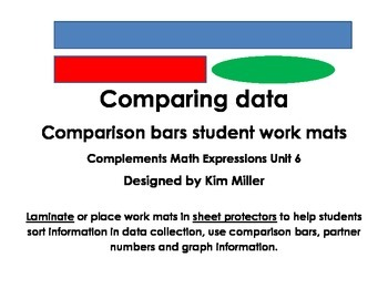 Comparison Bars Work Mats in Spanish & English Math Expressions