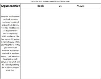 Comparison Book Report