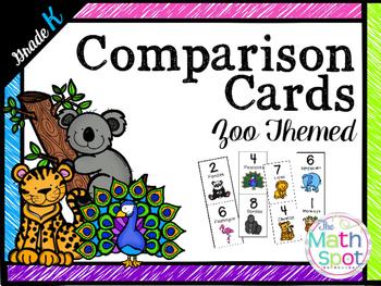 Kindergarten Number Comparison Cards