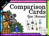 Kindergarten Number Comparison Cards