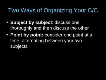 Comparison & Contrast Essay PowerPoint Explanation