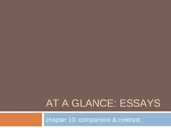 Comparison - Contrast Essay Writing