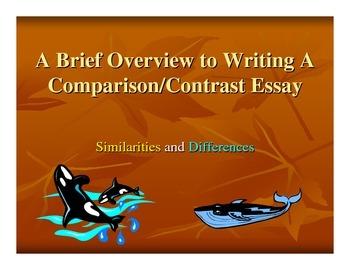 Comparison Essay PPT