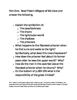 Comparison Essay Between The Crucible And The Allegory Of The Cave
