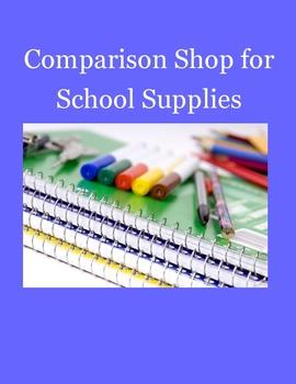 Comparison Shop for School Supplies Using Websites