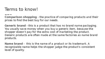 Comparison Shopping Activity