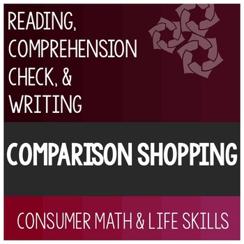 Comparison Shopping Article- Consumer Math Special Education