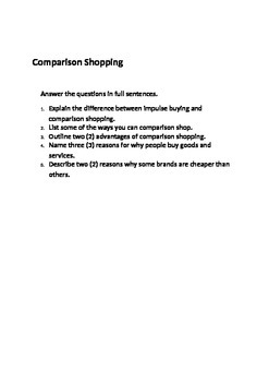 Comparison Shopping Commerce