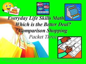 Comparison Shopping: Everyday Life Skills Math Series: Pac
