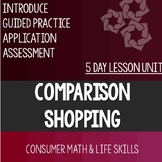 Cost Comparison Shopping- High School Special Education Co
