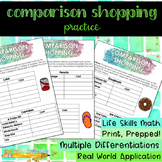 Comparison Shopping Practice