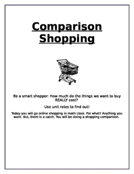 Comparison Shopping - Unit Price 6.RP.2