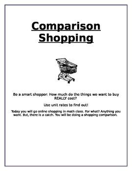 Comparison Shopping - Unit Price 6.RP.2